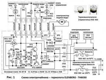 Схема термопота Elenberg ТН-6030,
