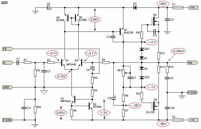 Пример усилителя (P101)