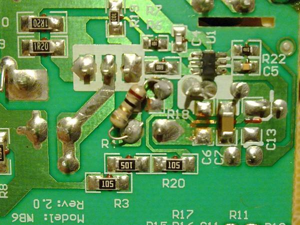 Установка нового резистора