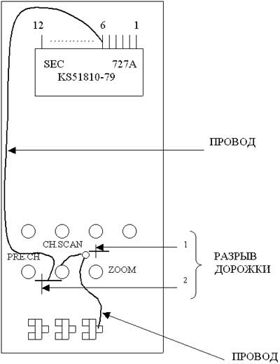 Схема доработки ПДУ для шасси