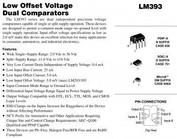 Технические характеристики LM393