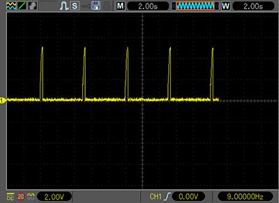 Частота вспышек лампы датчика