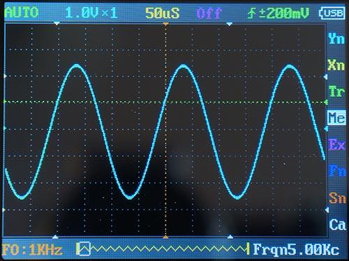 Синусоида 5 кГц