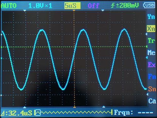 Синусоида 50 кГц