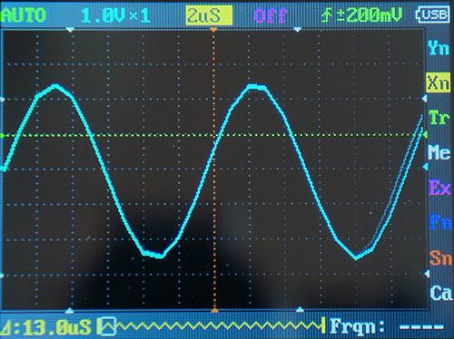 Синусоида 75 кГц