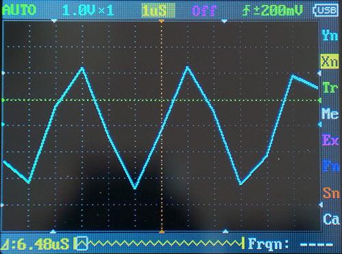 Синусоида 200 кГц