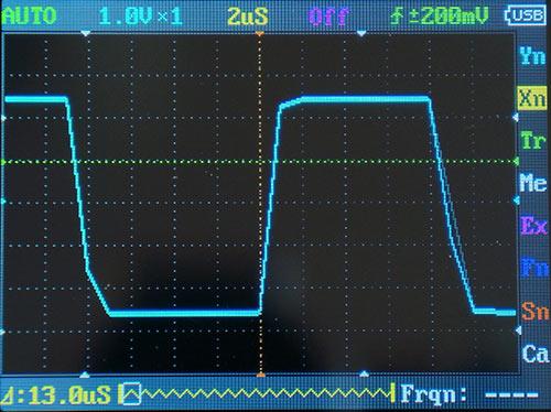 Прямоугольный сигнал 50 кГц