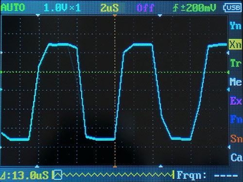 Прямоугольный сигнал 100 кГц