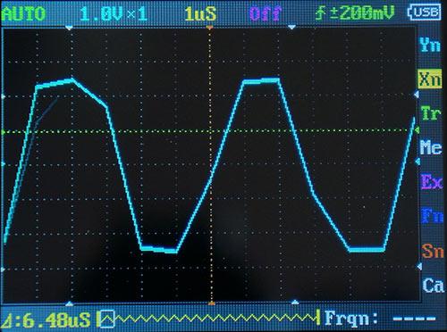 Прямоугольный сигнал 150 кГц