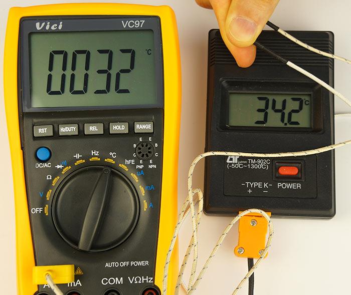 Измерение температуры Vici VC97