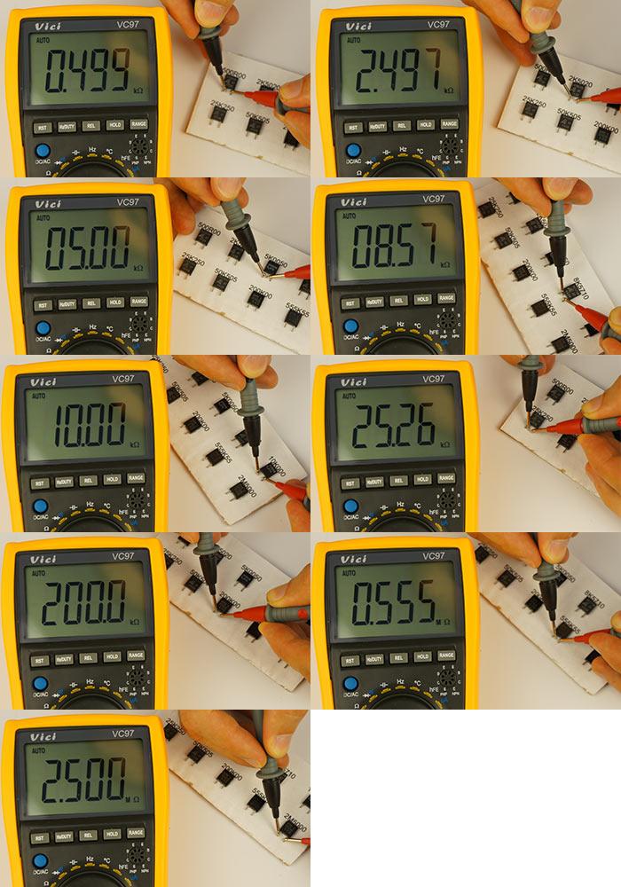 Измерение сопротивлений Vici VC97