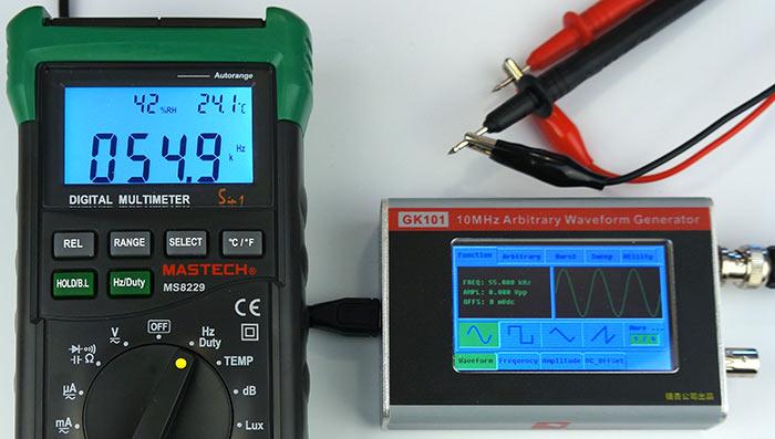 Тест измерения частоты сигнала