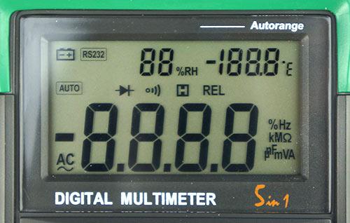 LCD экран мультиметра