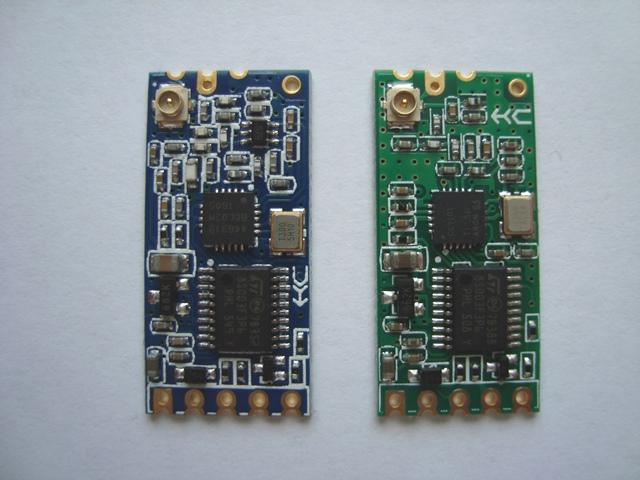 Справа СС1101, слева SI4463