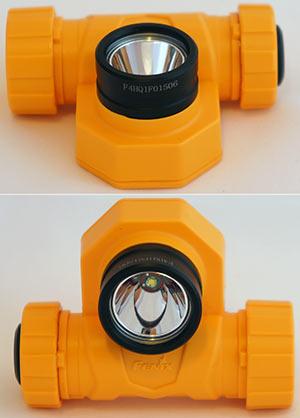 Внешний вид фонарика без налобного крепления и рассеивателя