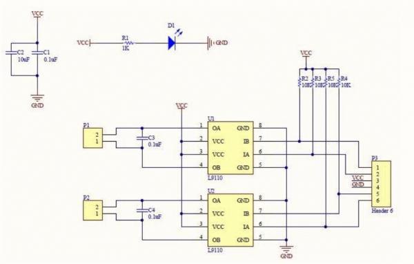 Принципиальная схема модуля L9110S