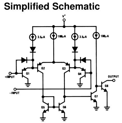 Внутренняя схема компаратора