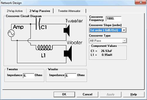 Программа расчет фильтра для акустической системы
