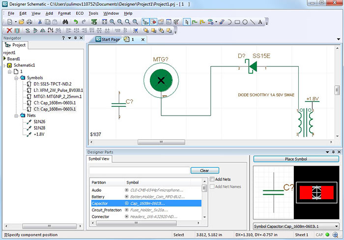 electronic schematic drawing software congeh