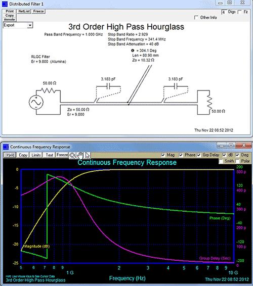 Сгенерированный фильтр с амплитудно-частотной характеристикой