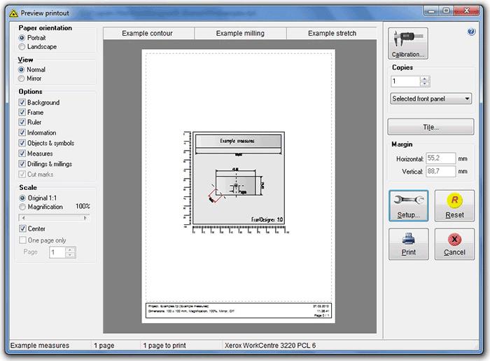 Программа FrontDesigner - Окно