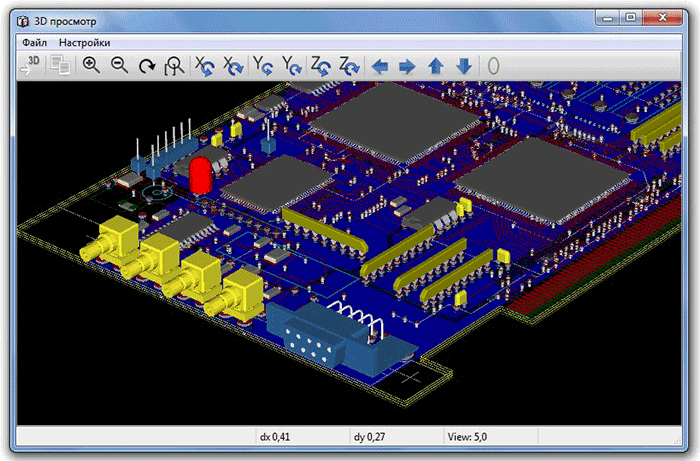 САПР сквозного проектирования, позволяющая создавать профессиональные электрические схемы и разрабатывать для них...
