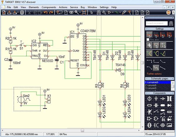 Программа рисования электросхем ламповых усилителей