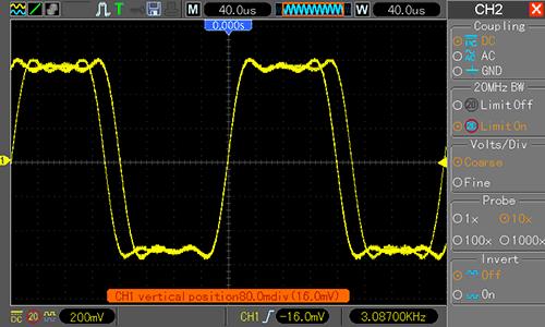 Waveform Generator - прямоугольный сигнал 3000 Гц