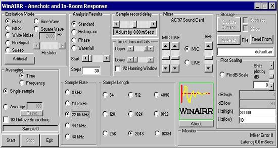 Рабочее окно программы WinAIRR