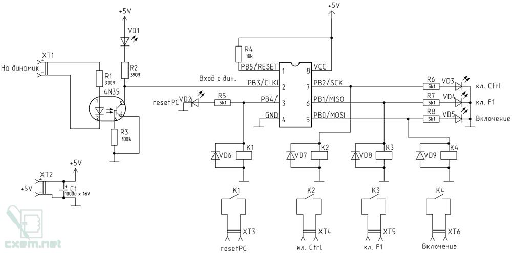 Принципиальная схема УУУ GSM