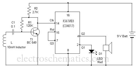 Схема детектора сотовых