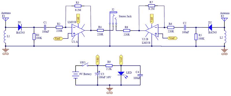 Схема детектора мобильных