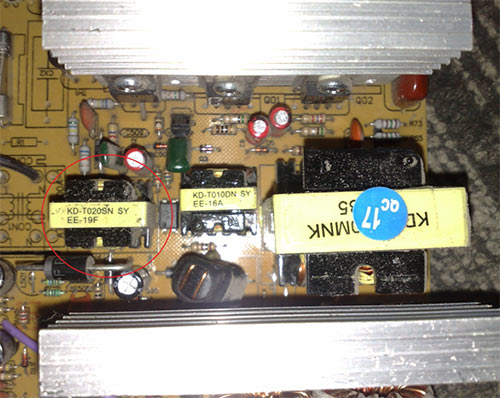 Трансформатор в зарядном устройстве телефона
