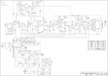 Схема лампового гитарного усилителя (distortion и clean)