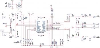 Схема аудио-усилителя D-класса на микросхеме TPA3122