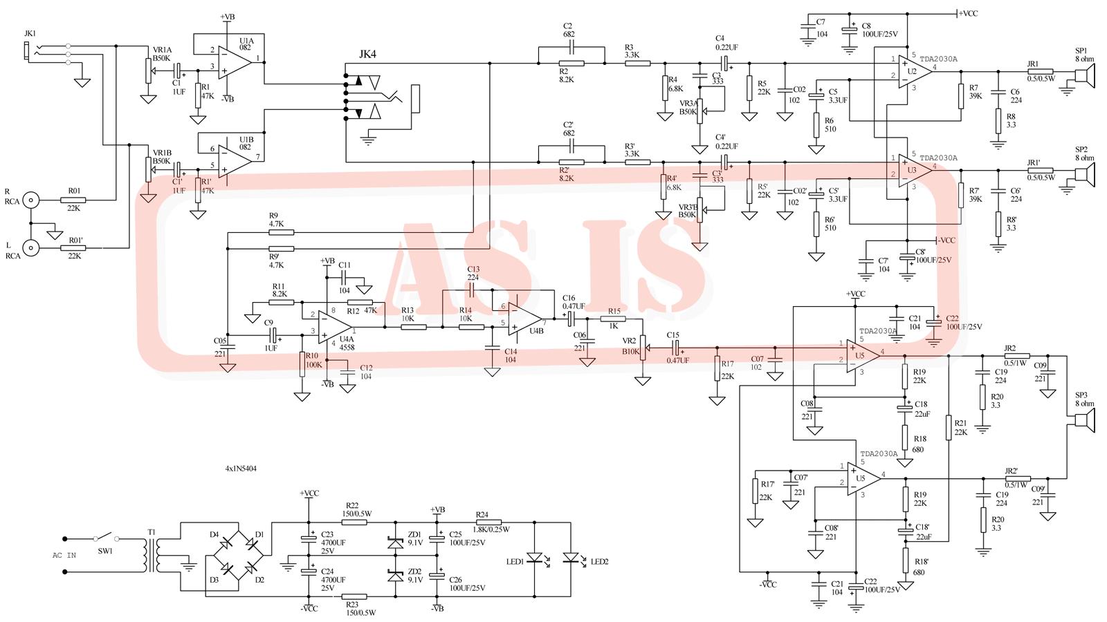 схема усилителя антены anprel