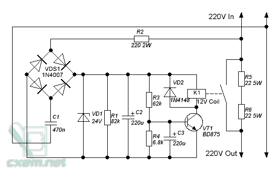 Схема плавного пуска