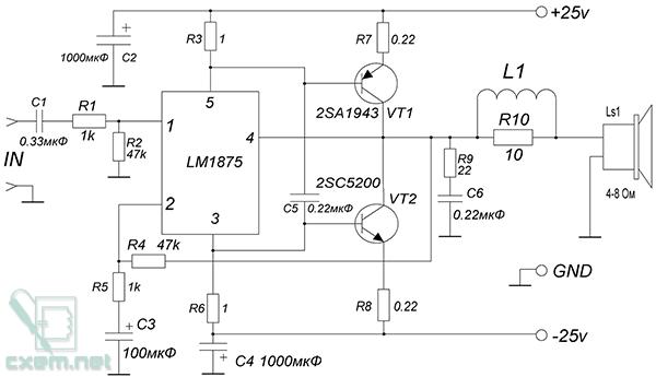 2sc5200 2sa1943 схема