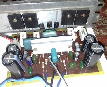 Защита АС...  Поднять мощность усилителя, можно добавлением еще одной или двух пар выходных транзисторов...