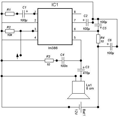 LM386 - мощная версия