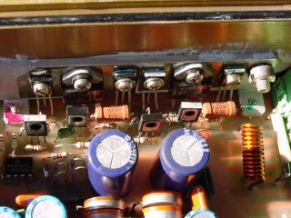 Так как усилитель потребляет ток до... печатную плату.  TDA7294.