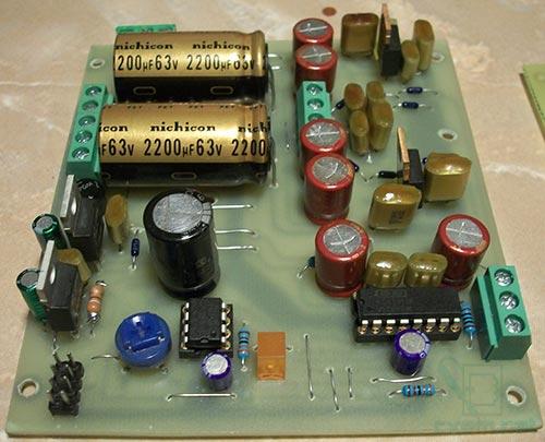 Eselit.com : Схемы : Аудио : Качественный усилитель/драйвер для наушников.