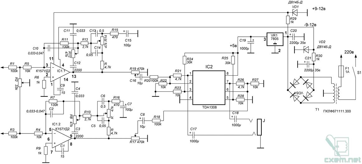 Схема электрическая принципиальная балансировочного станка.