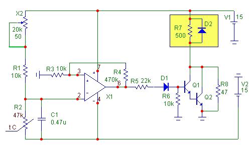 Принципиальная схема управления вентилятором.