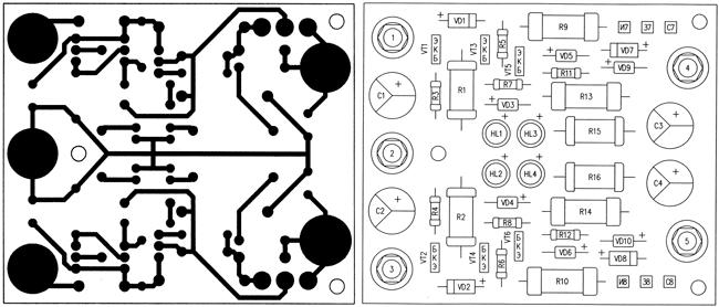 Печатная плата и схема расположения элементов