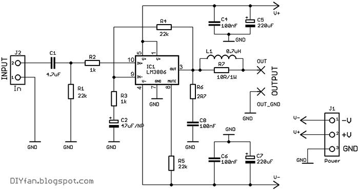 Типовая схема микросхемы lm3886 фото 812