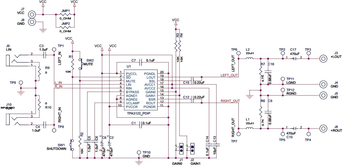 Схема аудио-усилителя D-класса