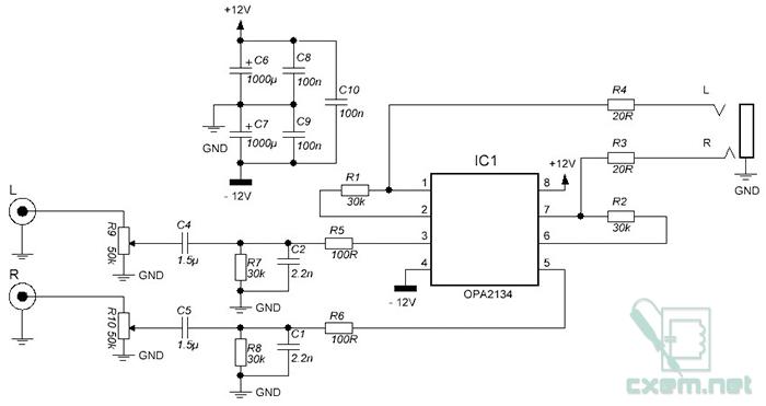 Схема буфера