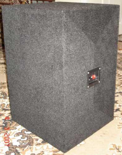 Обклейка сабвуфера тканью