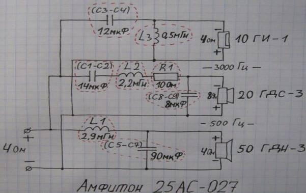 Схема родного фильтра Амфитона